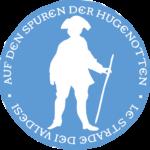 Logo Auf den Spuren der Hugenotten / Sur les pas des huguenots / Le strade dei Valdesi