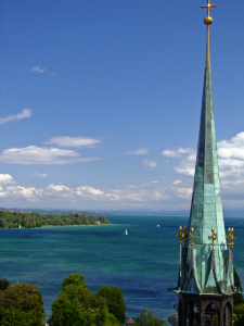 Blick vom Münster in Konstanz auf den Bodensee, Foto © Michael Schad