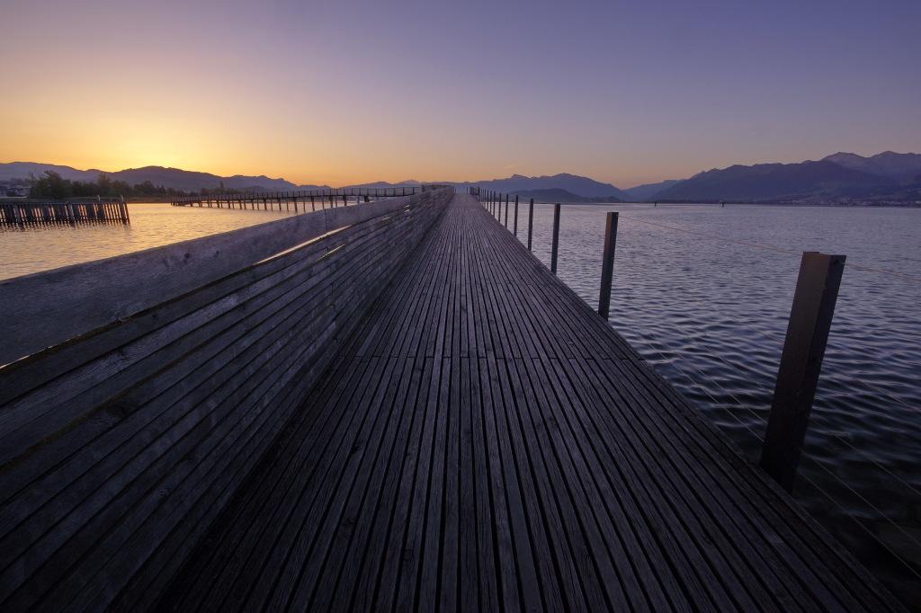 Moderne Holzbrücke zwischen Rapperswil und Hurden, © Claudio Parianotti