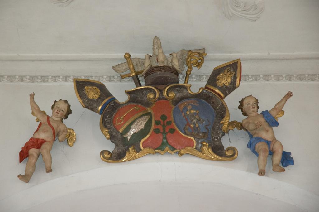 Die Wappen der Äbte von Petershausen und St. Georgen