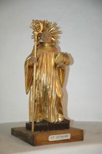 Statue des hl. Otmar, aus der Kathedrale in St. Gallen