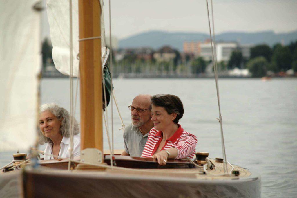 """Auf der """"Wolkuse"""" , der 106 Jahre alten Yacht von Jochen Frik und Anette Benegelsdorf, © Nils Theurer"""