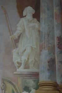 bei Platzmangel greift Franz Ludwig Herrmann zum Pinsel