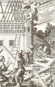 Vorarlberger Barockbaumeister und Zimmerleute. Stich © Vorarlbergmuseum
