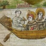 Die Heiligen Kolumban & Gallus im Ruderboot nach Bregenz
