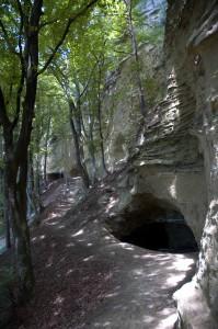 Die Heidenhöhlen nahe dem Dorf Zizenhausen, das heute zu Stockach gehört, Foto © Barbara Hutzl-Ronge