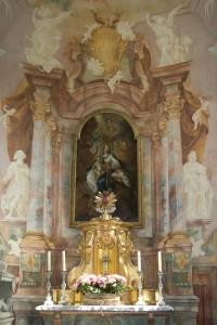 Altar der Schlosskapelle Mammern