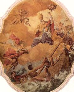 Der Schutzpatron der Seeleute in der Pfarrkirche in Steinach