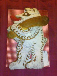 Ein Brot in Gestalt eines Bären. Da er ein Holzscheit trägt, ist es der Bär des heiligen Gallus.