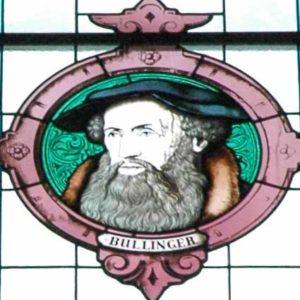 Glasfenster mit einem Porträt von Heinrich Bulliger, Kirchenfenster in Zürich. Foto © Barbara Hutzl-Ronge