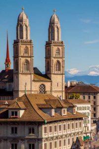 Grossmünster und Rathaus, die Ausgangspunkte der Reformation in Zürich